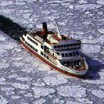 オホーツク海、もう「海あけ」。 2006.03.04